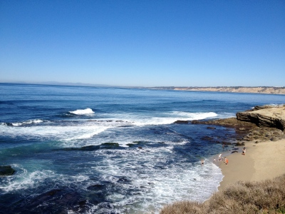 The view from a walk in La Jolla, CA
